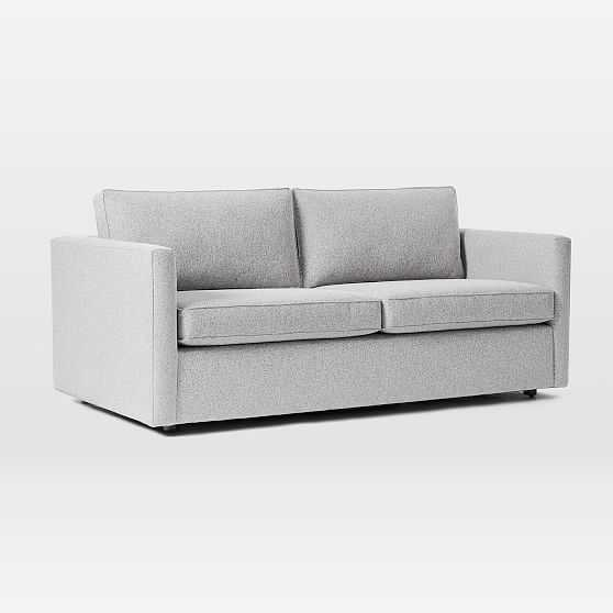 Harris Sleeper Sofa, Poly, Chenille Tweed, Irongate, Concealed Supports - West Elm