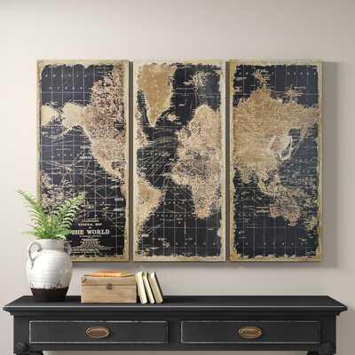 Stanford World Map 3 Piece Graphic Art Set - Birch Lane