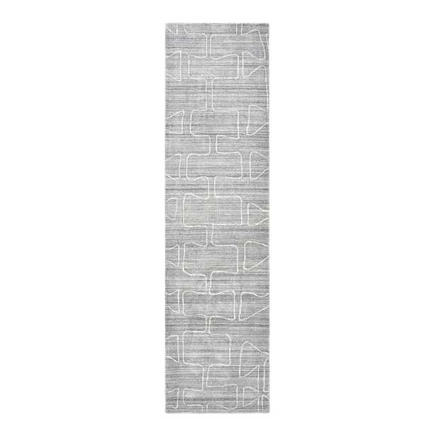 Solo Rugs Runner Sanford Geometric Hand-Knotted Light Gray Area Rug - Perigold
