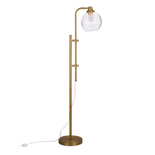 Hudson&Canal Antho Height Adjustble Brass Finish Floor Lamp - Home Depot