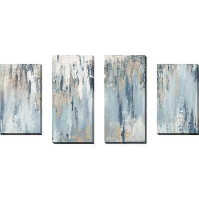 Blue Illusion - 4 Piece Wrapped Canvas Print - Wayfair