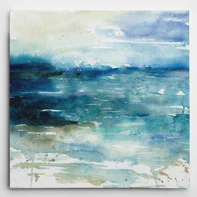 'Ocean Break I' by Carol Robinson Painting Print on Wrapped Canvas - Wayfair
