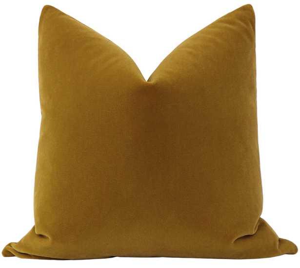 """Mohair Velvet // Bourbon - 20"""" X 20"""" - Little Design Company"""
