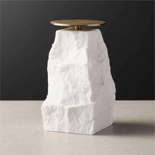 Matter Cut Pillar Candle Holder Large - CB2