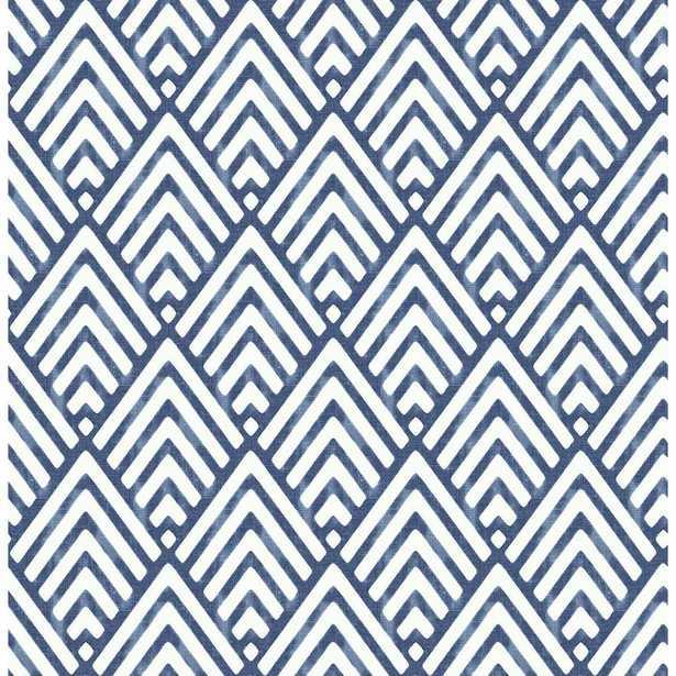 Vertex Indigo (Blue) Diamond Geometric Wallpaper - Home Depot