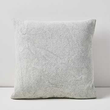 "Outdoor Textured Garment Wash Pillow Pair, 20""x20"", Frost Gray, Set of 2 - West Elm"