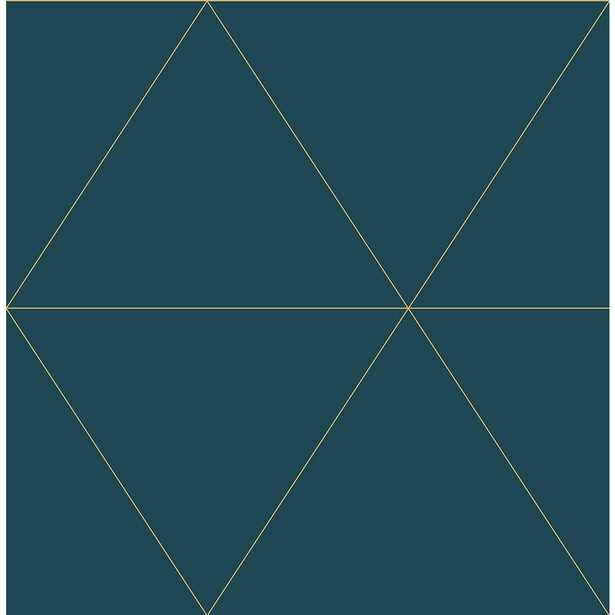 56.4 sq. ft. Twilight Teal (Blue) Geometric Wallpaper - Home Depot