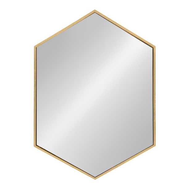 McNeer Hexagon Gold Accent Mirror - Home Depot