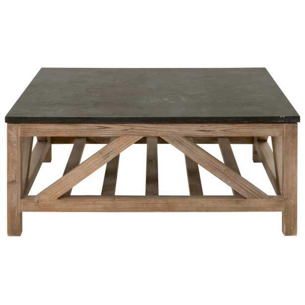 Blue Stone Square Coffee Table - Alder House