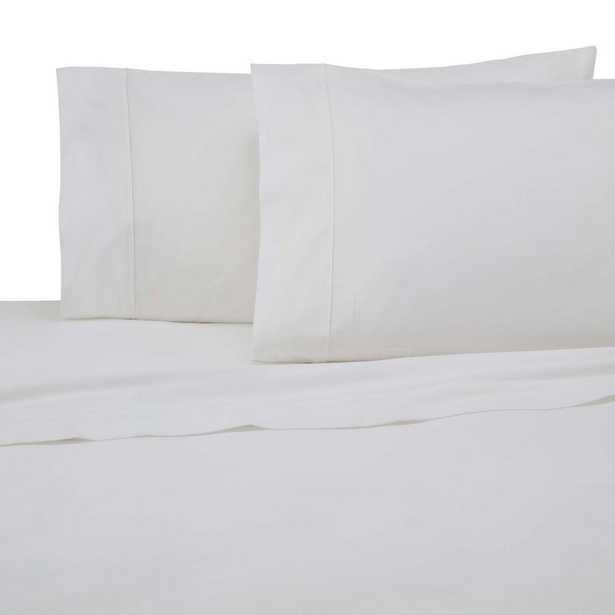 300 Thread Count 4-Piece True White Full Sheet Set - Home Depot
