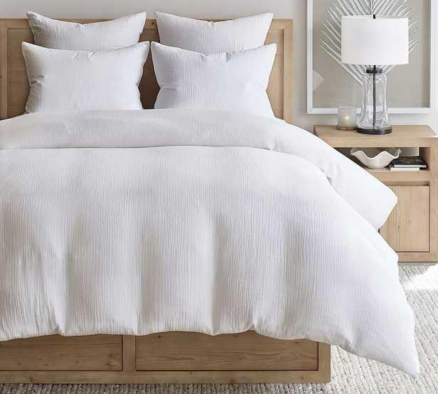 White Soft Cotton Cotton Duvet Cover, King/Cal. King - Pottery Barn