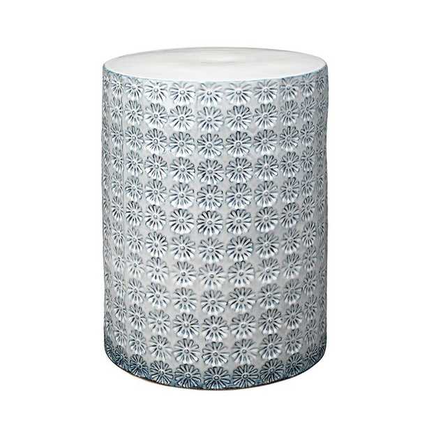 Wildflower Side Table Table Top Color: White/Blue, Table Base Color: White/Blue - Perigold