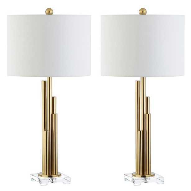 Safavieh Hopper 32 in. Brass Gold Table Lamp (Set of 2) - Home Depot