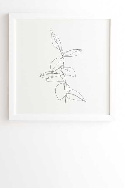 """Plant Illustration Berry by The Colour Study - Framed Wall Art Basic White 19"""" x 22.4"""" - Wander Print Co."""