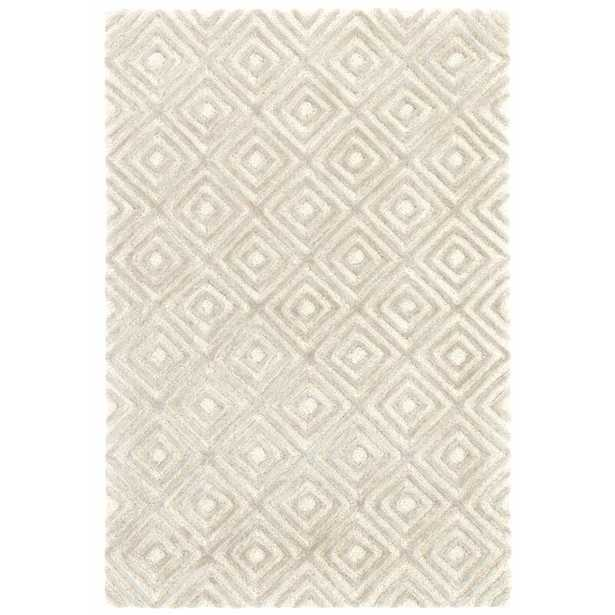Dash and Albert Rugs Cut Diamond Hand-Tufted Gray Area Rug Rug Size: Rectangle 10' x 14' - Perigold
