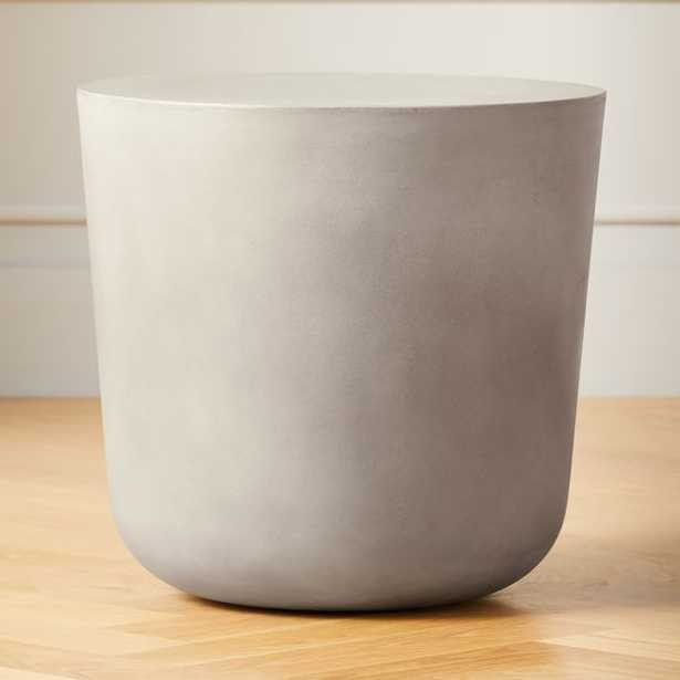 Cap Grey Cement Side Table - CB2