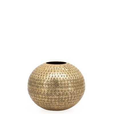 """Neves 7"""" Indoor / Outdoor Aluminum Table Vase - Wayfair"""