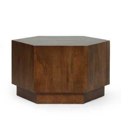 Solid Wood Pedestal Coffee Table - Wayfair