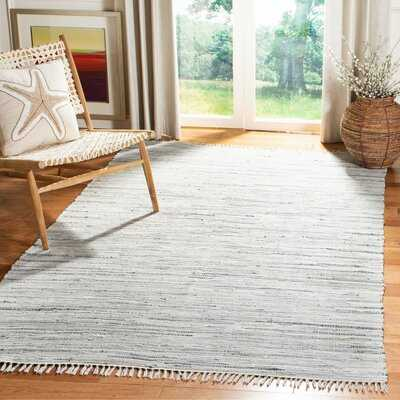 Wincanton Abstract Hand-Knotted Cotton Gray Area Rug - Wayfair
