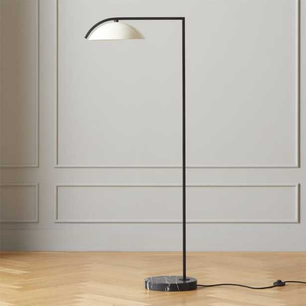 Belgrave White Globe Floor Lamp - CB2