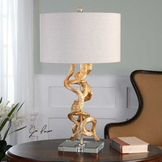 Twisted Vines Gold Table Lamp - Hudsonhill Foundry