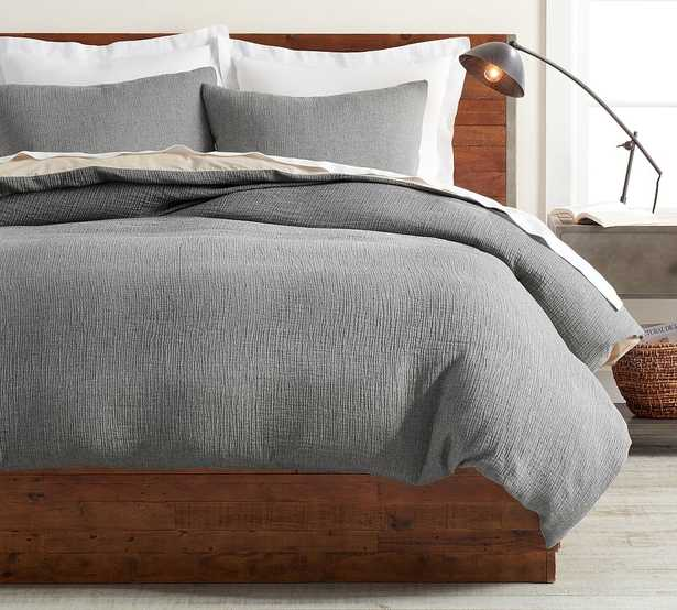 Charcoal Soft Cotton Duvet Cover, King/Cal. King - Pottery Barn