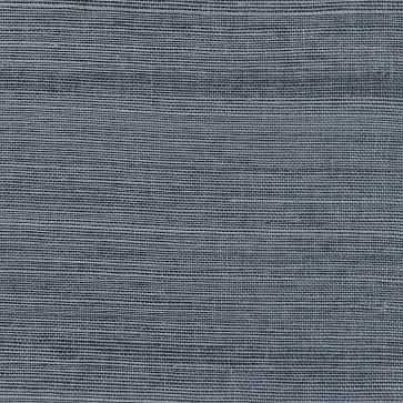 Victoria Indigo Grasscloth Wallpaper - West Elm