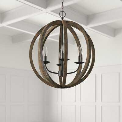 Ricciardo 4 - Light Candle Style Globe Chandelier with Wrought Iron Accents - Wayfair