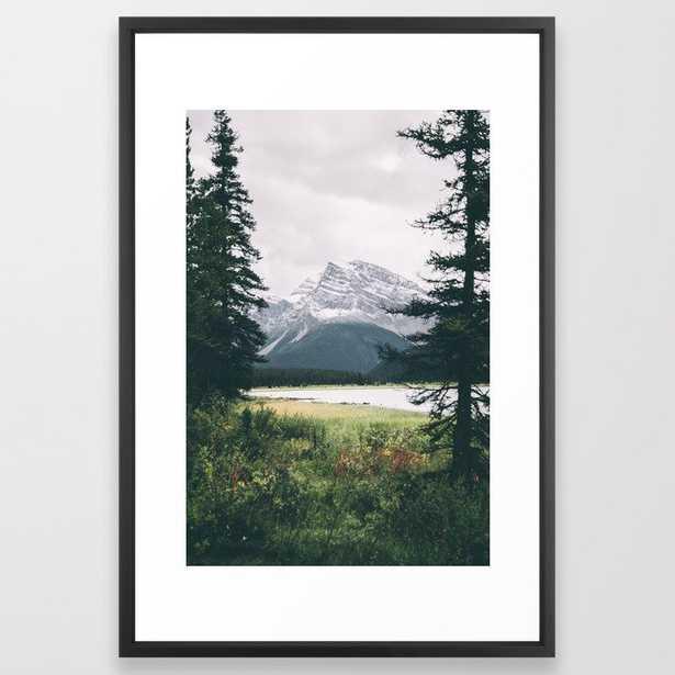 Alberta Framed Art Print by Hannah Kemp - Vector Black - LARGE (Gallery)-26x38 - Society6
