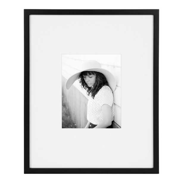 DesignOvation Gallery 16 in. x 20 in. matted to 8 in. x 10 in. Black Picture Frame - Home Depot