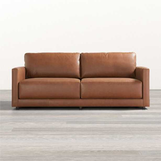 Gather Petite Leather Sofa - Crate and Barrel