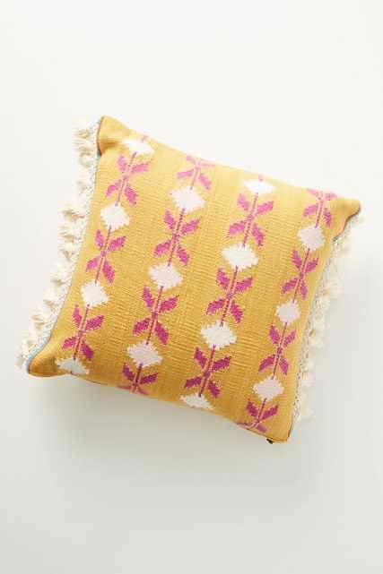 Handwoven Saffron Pillow - Anthropologie