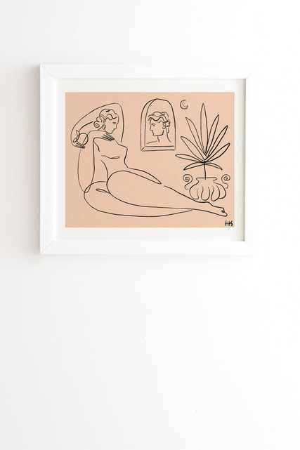 "I See You 1 by Maggie Stephenson - Framed Wall Art Basic White 19"" x 22.4"" - Wander Print Co."