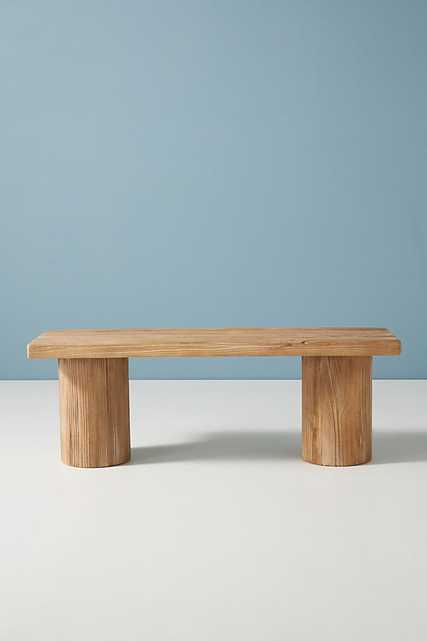 Margate Reclaimed Wood Bench By Anthropologie in Beige - Anthropologie