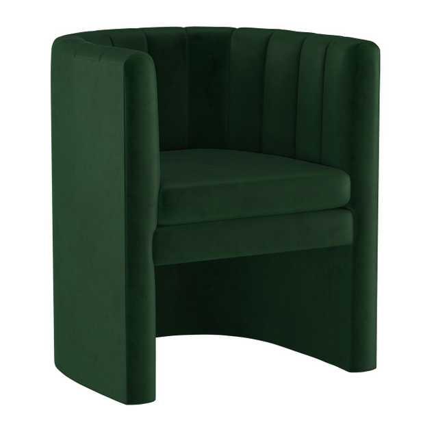 Wellshire Chair, Emerald Velvet - Studio Marcette