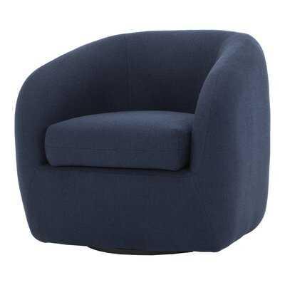 """Ashkum 32.5"""" W Polyester Blend Swivel Barrel Chair - AllModern"""
