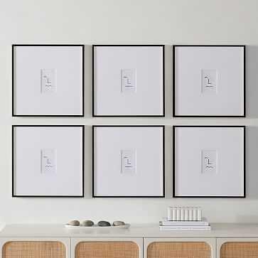Metal Gallery Frame Rectangle, Black Powder Coated, 18X18 in Set of 6 - West Elm