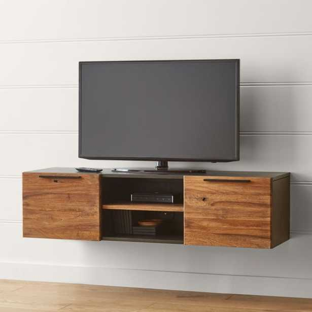 """Rigby Natural 55"""" Small Floating Media Console - Crate and Barrel"""