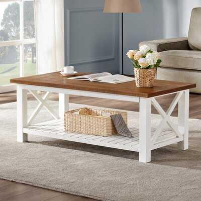 Solid Wood Coffee Table with Storage - Wayfair