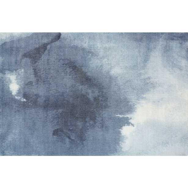 Wash Blue Watercolor Rug 6'x9' - CB2