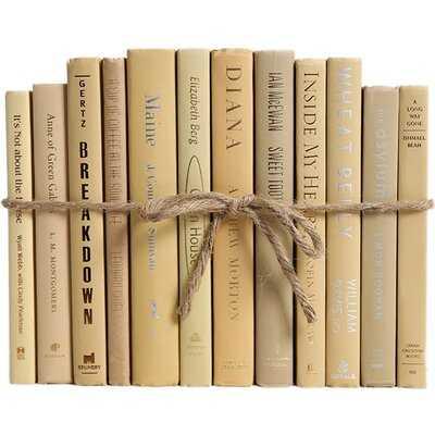 Authentic Decorative Books - By Color Modern Sandalwood ColorPak (1 Linear Foot, 10-12 Books) - Birch Lane