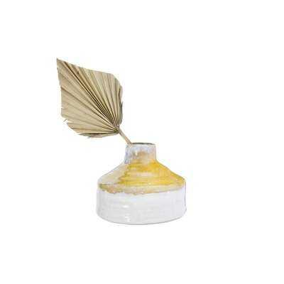 "Masami Yellow 4.75"" Stoneware Table Vase - Wayfair"