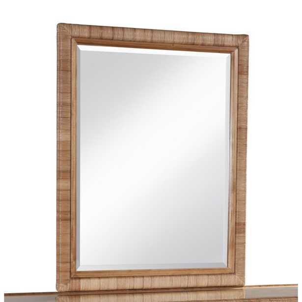 Braxton Culler Naples Modern & Contemporary Beveled Dresser Mirror Color: Driftwood - Perigold