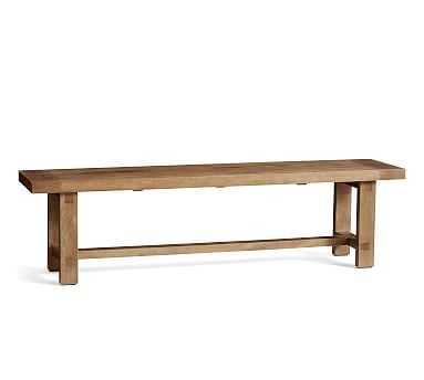 Reed Dining Bench, Antique Umber - Pottery Barn