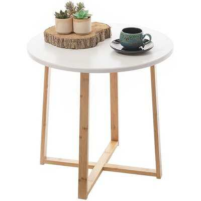 George Oliver Side Table White Modern Nightstand Round Side End Accent Small Wood Coffee Table Set For Living Room Bedroom Balcony Family And Office Midcentury Corner Drink Tables,round Accent Table Outdoor (19.6inx18.7in) - Wayfair