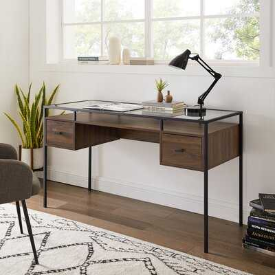 Jurria Glass Desk - Wayfair