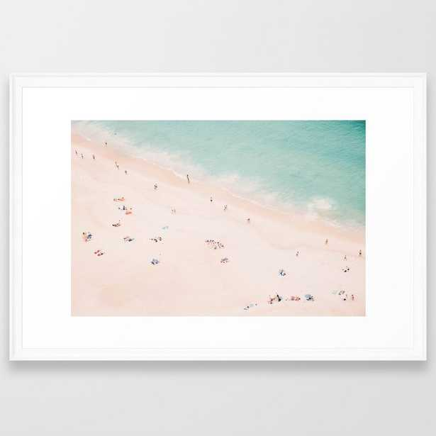 Beach Summer Bliss Framed Art Print by Ingrid Beddoes Photography - Scoop White - LARGE (Gallery)-26x38 - Society6