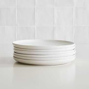 Stoneware Dinnerware, Dinner Plate, White, Set of 6 - West Elm