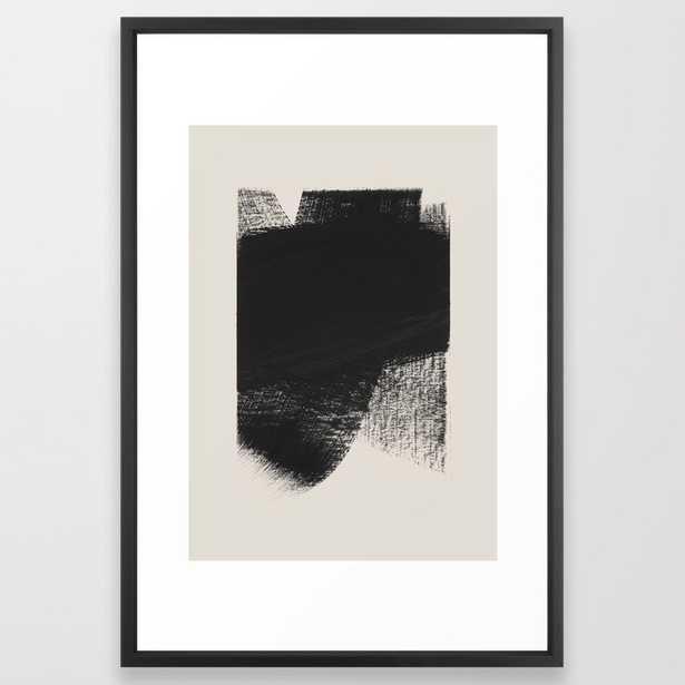 Here Framed Art Print by Iris Lehnhardt - Vector Black - LARGE (Gallery)-26x38 - Society6