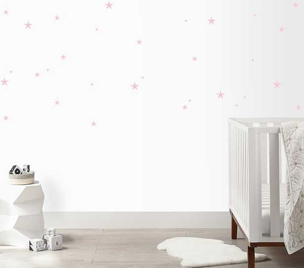 Twinkle Stars Wall Decal, Soft Pink - Pottery Barn Kids